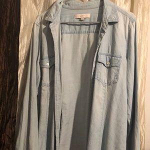 Loft button Down denim shirt